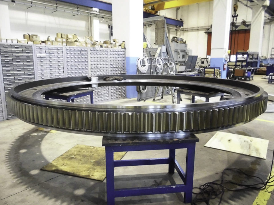Corone dentate di grandi dimensioni per settore siderurgico