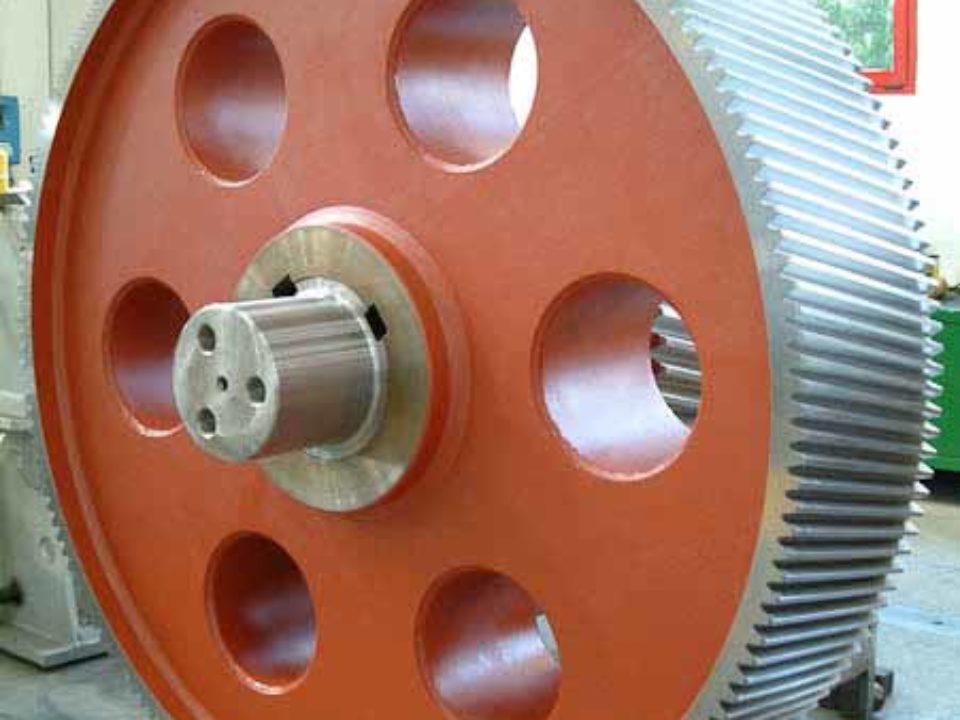 Bull gear per riduttore di comando convertitore acciaio da 350 tonnellate