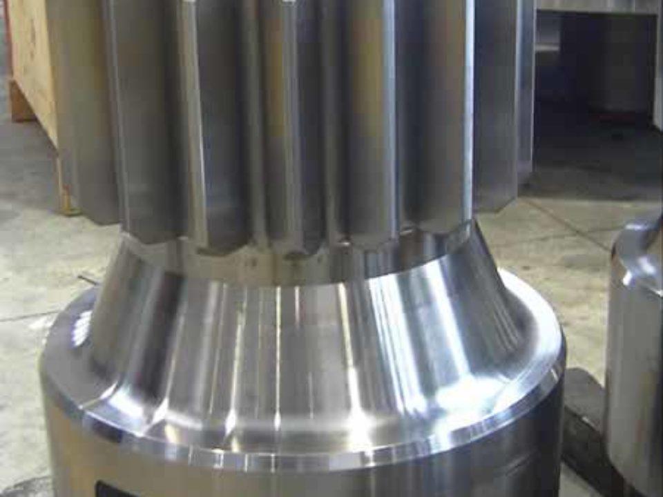 Dettaglio riduttore epicicloidale  per movimentazione Azimuth ed elevazione di antenne paraboliche