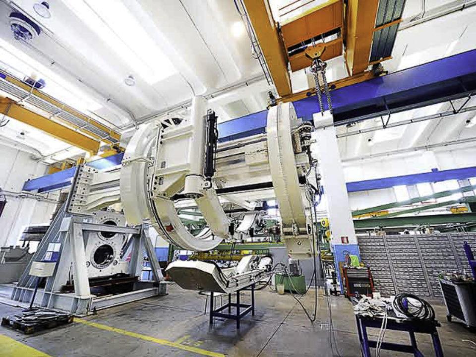 Erettore per conci per TBM- Tunnel Boring Machines