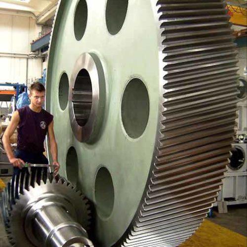 Ingranaggi per riduttore comando gabbia di laminazione verticale..