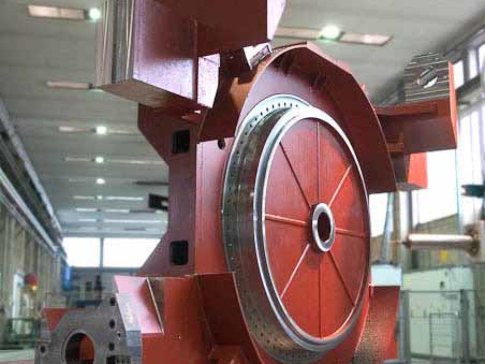 Lavorazione meccanica carro porta tavola su alesatrice con portata di 100 ton