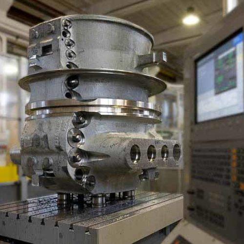 Esempio di lavorazione meccanica di cassa turbina.