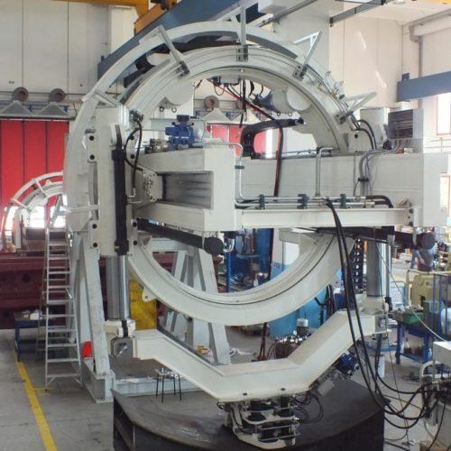 Erettore per conci TBM- Vista laterale dell'erettore.
