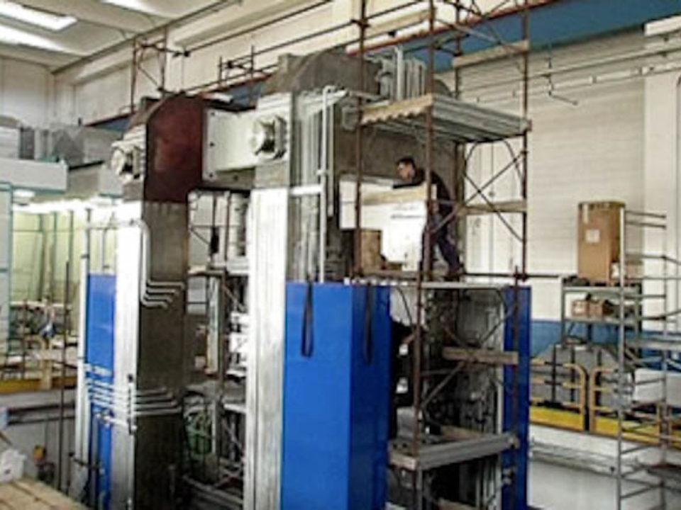 Vormontage – Montagebereich für Walzgerüste mit 160-t-Laufkran und Hakenhöhe 14 m.
